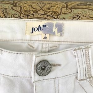 Jolt off white colored jeans